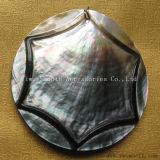 方法DIY急なボタンの吊り下げ式の宝石類のアクセサリの自然で黒いシェル