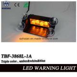 Luz de advertência do traço novo do diodo emissor de luz da cor triplicar-se do projeto para o pára-brisa do carro