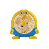 Симпатичный вентилятор, вентилятор вентилятора конструкции шаржа миниый электрический для промотирования