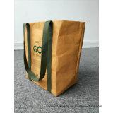 Bolsa de papel lavable bolsas de papel lavables grandes o grandes de Brown de Kraft