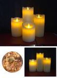 Vela decorativa da fábrica de China que dança velas remotas Flameless do diodo emissor de luz do temporizador