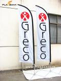 bandierina parteggiata di alluminio della piuma di stampa di promozione di evento di 2.8m doppia/bandierina di volo