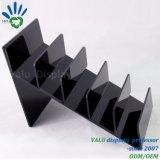 Support acrylique noir de pochette de présentoir de pochette de contre- dessus