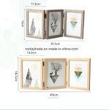 El marco de fotos de madera de Custom-Made Tri-Folded imágenes colgando del bastidor de madera
