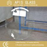 vidrio Tempered de la tapa de vector del hierro 10m m inferior de 8m m/del borde biselado ultra claro estupendo del suplemento