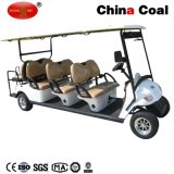 2つのシートの太陽電気オートバイのゴルフ観光のカート