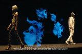 Folha transparente holográfica para a mostra de Satge do holograma