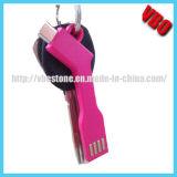 Cabo novo do Keyring do USB do carregador de Keychain da chegada para o telefone móvel