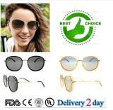 女性のための現代デザイン高品質の上の販売の方法円形のサングラス