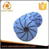 Almofada de polimento de diamante de resina de diamante de 125 mm para pedra