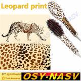Cópia do leopardo! Pente eletrônico cerâmico do Straightener do cabelo de Nasv-100 LCD