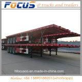 3 ESSIEUX 40FT 40-60 tonnes semi-remorque de transport de conteneurs à plat