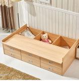 6つの引出しおよび大きい記憶空間が付いている引出しのベッド