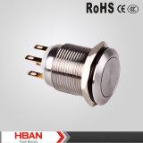 Anti interruttore di pulsante momentaneo dell'acciaio inossidabile del vandalo 5A/250 di Hban 19mm (risistemazione)