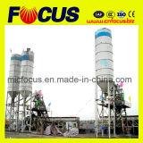 Planta de procesamiento por lotes por lotes concreta Hzs50 de la tolva de la elevación de la buena calidad