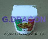 De Chinese MeeneemVakjes van het Voedsel van het Document met het Handvat van de Draad van het Metaal (gdnb-004)