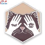 De aangepaste Hexagon Leuke Speld van de Revers van de Legering van het Zink van de Vorm van Katten
