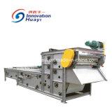 作動した沈積物の排水するか、または処置機械ベルトフィルター