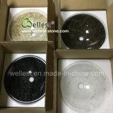 水晶モザイク模様の大理石の浴室の台所洗面所のための円形の流しの洗面器