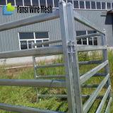 6つの棒楕円形の柵の携帯用牛ヤードのパネル