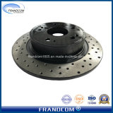 El rendimiento de perforado revestido de alquiler de rotor de freno discos de freno para Honda