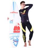 노랗고와 까만 높 탄력 있는 Beachwear&Swimdress