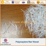 Fibra del polipropileno de la construcción de la forma de onda