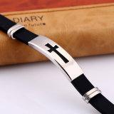 Form-QuerEdelstahl-Silikon-Armband