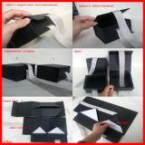 Cajas de cartón negro para las camisas de embalaje con el arco