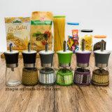 Fles van het Glas van de Olijfolie van Ontwerp 5 van de fabriek de In het groot Kleurrijke (100004)
