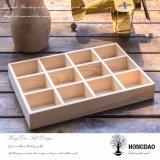 Rectángulo de empaquetado de madera de Hongdao con los divisores Wholesale_D