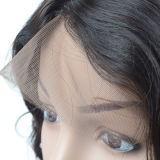 Pelucas trenzadas del cordón de la peluca baja de seda brasileña del frente para los hombres negros