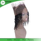 Frontals peruviani dei capelli 360 del Virgin umano riccio allentato superiore