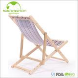 Lazer ao ar livre Armres que dobra a cadeira de praia de madeira