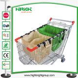 Carrito de la cesta de la compra 180L con las ruedas del asiento y del elevador del bebé
