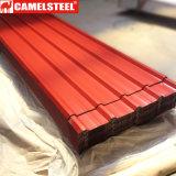 La couleur a enduit la bobine en acier pour la feuille onduleuse de toiture