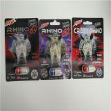 Private Label Rhino 69 l'Extrême 9000 emballage blister Super Sexe pilules de cartes en 3D Effet/Capsule bouteilles avec bouchon rouge