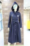 Les musulmans Womens occasionnel robe à manchon long manteau léger coupe-vent Vestes