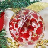 Meilleures ventes de Noël personnalisée Hand-Painted Bille de verre, artisanat de Noël Boule de verre