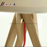 Design exclusivo 5 Pernas Iluminação mesa de madeira natural