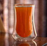 Drinkware personalizada de fábrica de vidro de parede dupla de borossilicato chávena de chá / café/cerveja