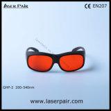 Ultravioleta, Excimer Láser verde, Gafas y gafas de seguridad láser (BPH-2 200-540nm) con marco negro 33