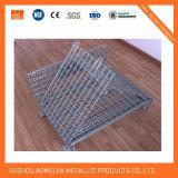 Acoplamiento plegable del estante/de alambre de visualización de la cesta de alambre de metal del supermercado que empila cestas/la jaula de la promoción