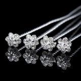 장식 꽃 신부 꽃다발 보석 부속품 형식 결혼식 꽃다발을%s 수정같은 모조 다이아몬드 브로치 Pin