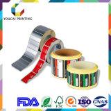 Fábrica profesional por encargo Etiqueta del producto Etiqueta Rolls