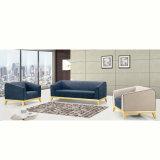 Sofà di legno dell'hotel del tessuto blu moderno del ristorante