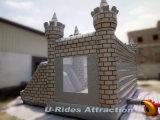 Trampolín de salto inflable gris de la casa de la despedida del castillo de la venta caliente para el parque de atracciones
