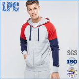 Langer Hülse50%cotton 50%Polyester Mens-stilvolles Pullover-Vlies Hoodie
