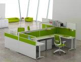 Partition en bois en verre en aluminium moderne de poste de travail/bureau de compartiment (NS-NW346)