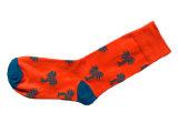 Baumwollfrauen Plain Socken mit Form konzipiert (fp-3)